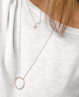 TRAVEL Halskette Rosé