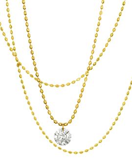 DIAMOND NECKLACE  18K GOLD