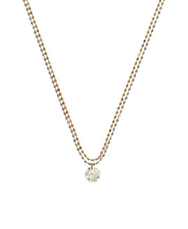 DIAMOND Halskette|18K Gold Bi-Color