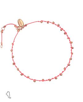 BEADS|Fußband Pink