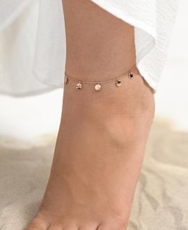 GYPSY  Fußkette Rosé