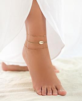 ROSE SHINE  Fußband Beige