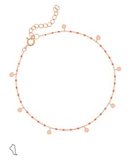 EMAILLE COLORS|Fußkette Orange