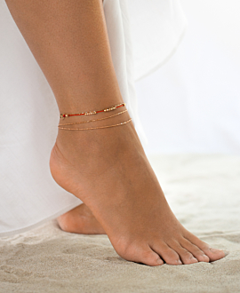 ROSE SHINE ANKLET RED