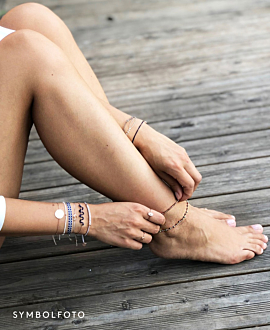 BEADS  ANKLE BAND PINK