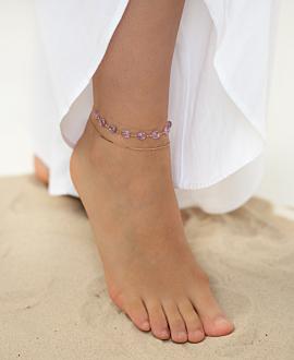 LIBERTY  Fußband Violett