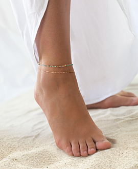 SUMMER BEADS  ANKLET BLUE