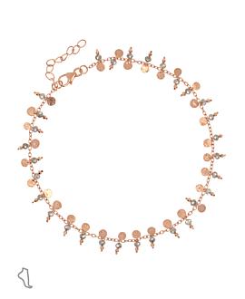 GYPSY LABRADORITE  Fußkette Rosé