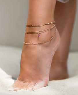 ESSENTIAL  Fußkette Rosé