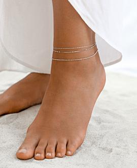 ESSENTIAL Fußkette Silber