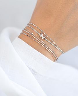 GEMMY BUTTERFLY  Armband Silber
