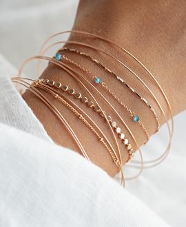 GRACIOUS  Armband Blau