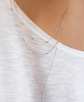 GRACIOUS  Halskette Blau