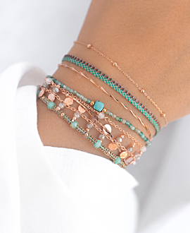 GYPSY AMAZONITE  Armband Rosé