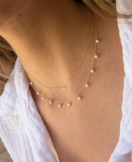 PEARL NECKLACE  10K ROSE GOLD