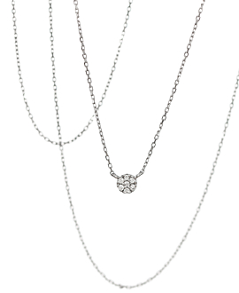 DIAMOND NECKLACE  10K WHITE GOLD