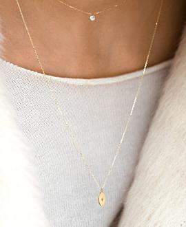 GLIMMER Halskette  14K Gold