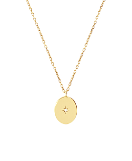 GLIMMER Halskette|14K Gold