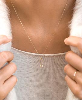 PIN Halskette  14K Gold