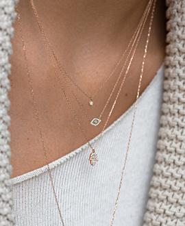OPAL EYE Halskette 14K Roségold