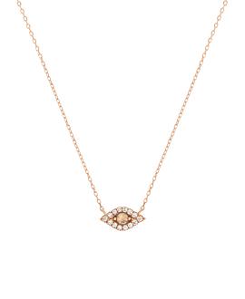 OPAL EYE Halskette|14K Roségold