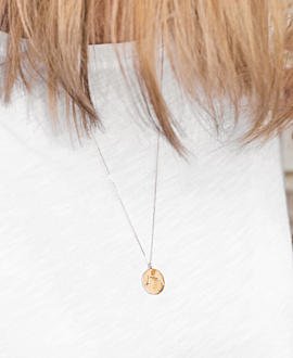 WIDDER Halskette 14K Roségold