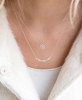 SNOWFLAKE Halskette  14K Weißgold