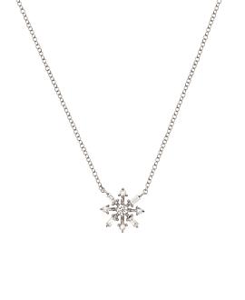 SNOWFLAKE Halskette Weißgold