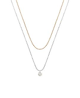 DIAMOND Halskette|14K Gold Bi-Color
