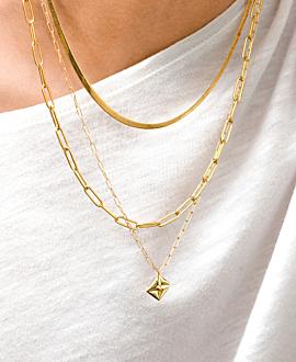 LOVE LETTER  Halskette Gold