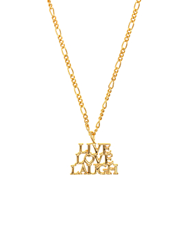 LIVE.LAUGH.LOVE.|Halskette Gold