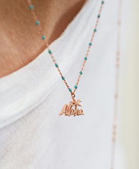 ALOHA  Halskette Blau