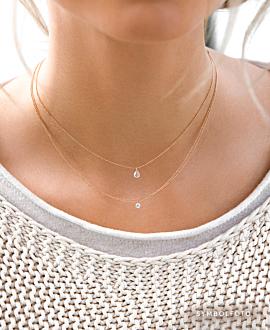 DIAMOND NECKLACE 14K GOLD BI-COLOR