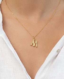 LETTER  Halskette M Gold
