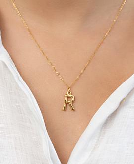 LETTER  Halskette R Gold