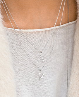 SAY MY NAME  NECKLACE A SILVER