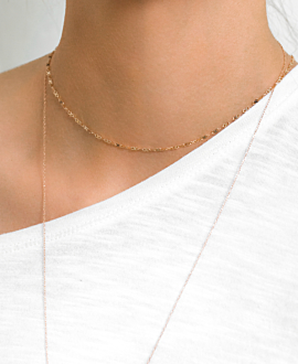 ENDLESS CHOKER 10K ROSE GOLD