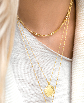 CURB CHAIN  Choker Gold