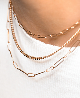 CURB CHAIN CHOKER ROSE