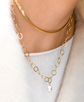 BOX CHAIN  Choker Gold