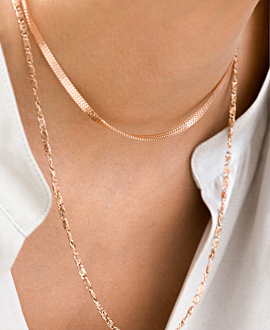BOX CHAIN  CHOKER ROSE
