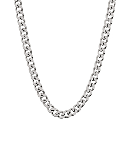 CURB CHAIN NECKLACE SILVER