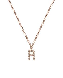 LETTER Halskette R|14K Roségold