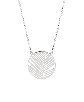 PALM LEAF  Halskette Silber