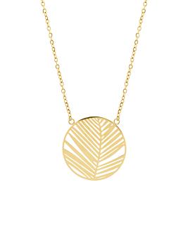 PALM LEAF  Halskette Gold