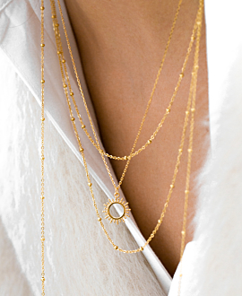 BEADS LAYER NECKLACE GOLD