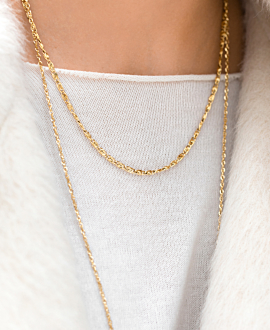 PAPERCLIP  NECKLACE GOLD