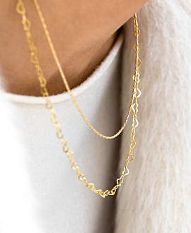 HEART CHAIN  Halskette Gold