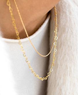 HEART CHAIN  Halskette Gold