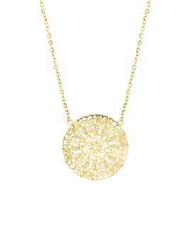 FLOWER ORNAMENT  NECKLACE GOLD